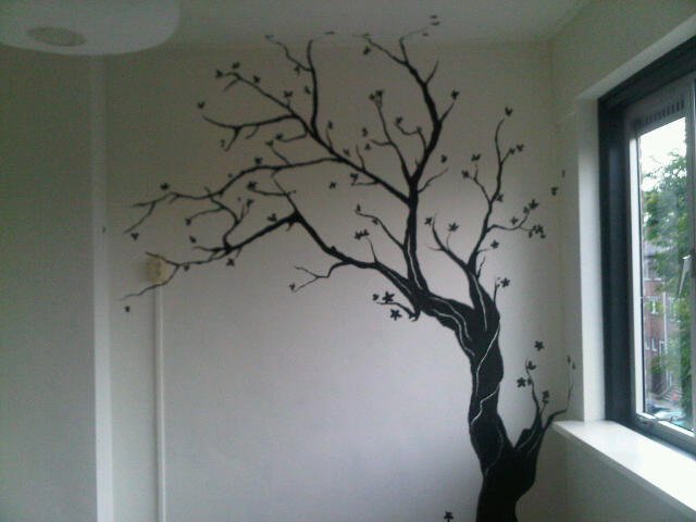 black ink tree mural by morninghasbroken on deviantart