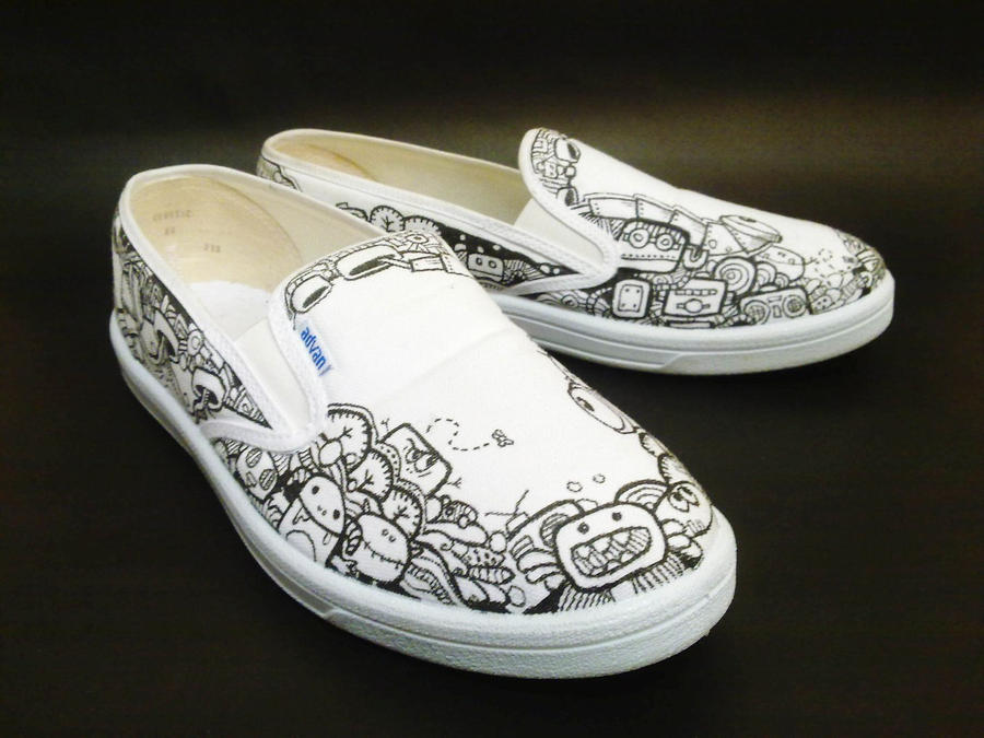 doodle shoes by flyingblind on deviantart