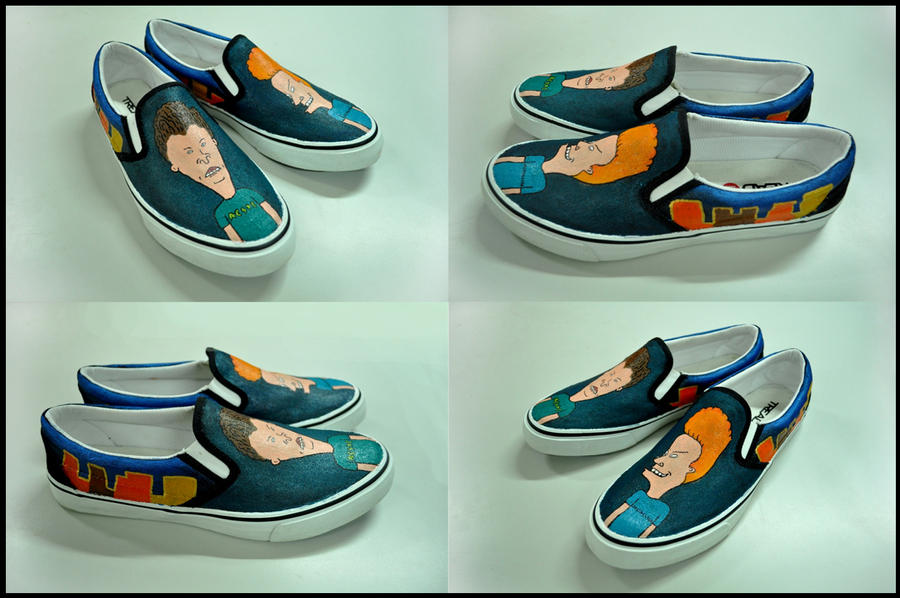 Beavis and Butt-head Shoes by flyingblind