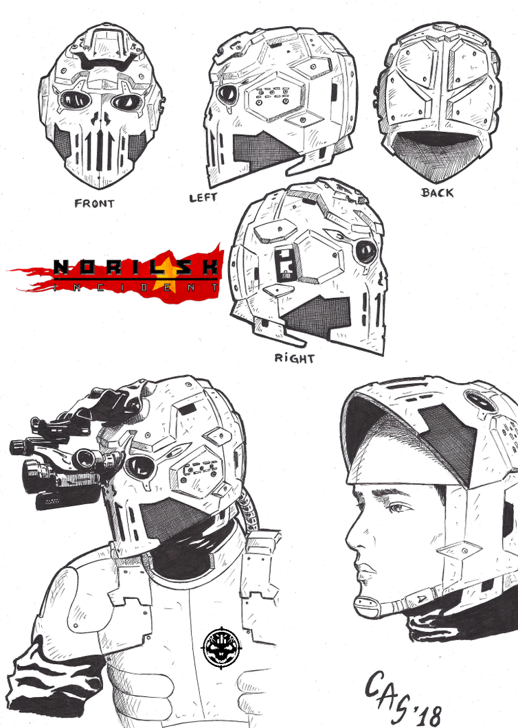 Norilsk Incident Peng's Helmet by carlosarielsosa