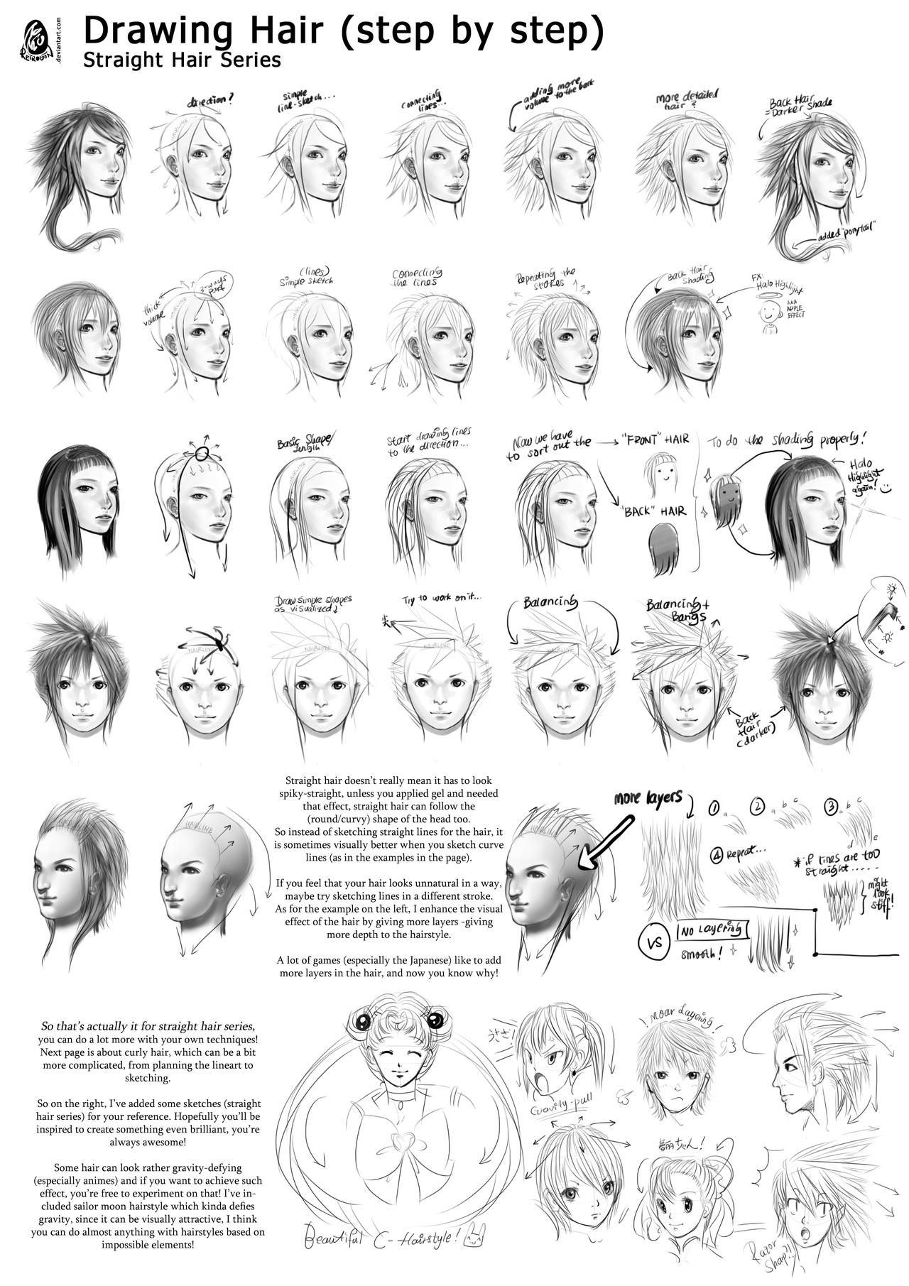 Tutorial: Straight Hair Series (Page 6) by ReiRobin