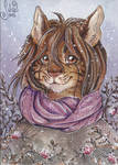 ACEO for Diaminerre - Snow rose
