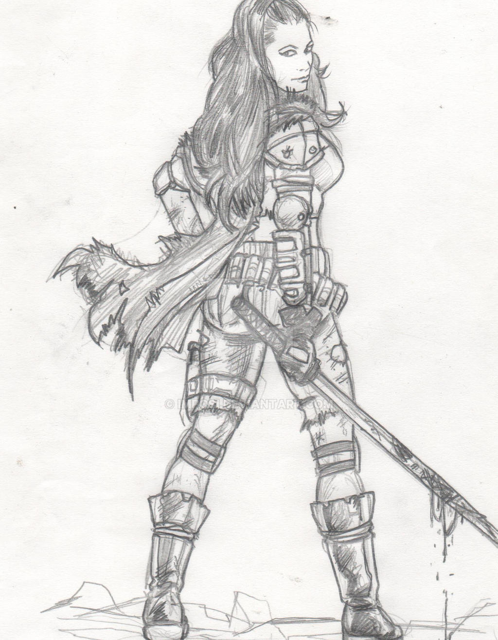 Post Apocalyptic Girl Layout 2 By Imposi