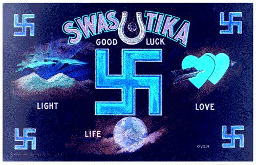 swastika the good luck symbol by theGHOSTofCHE