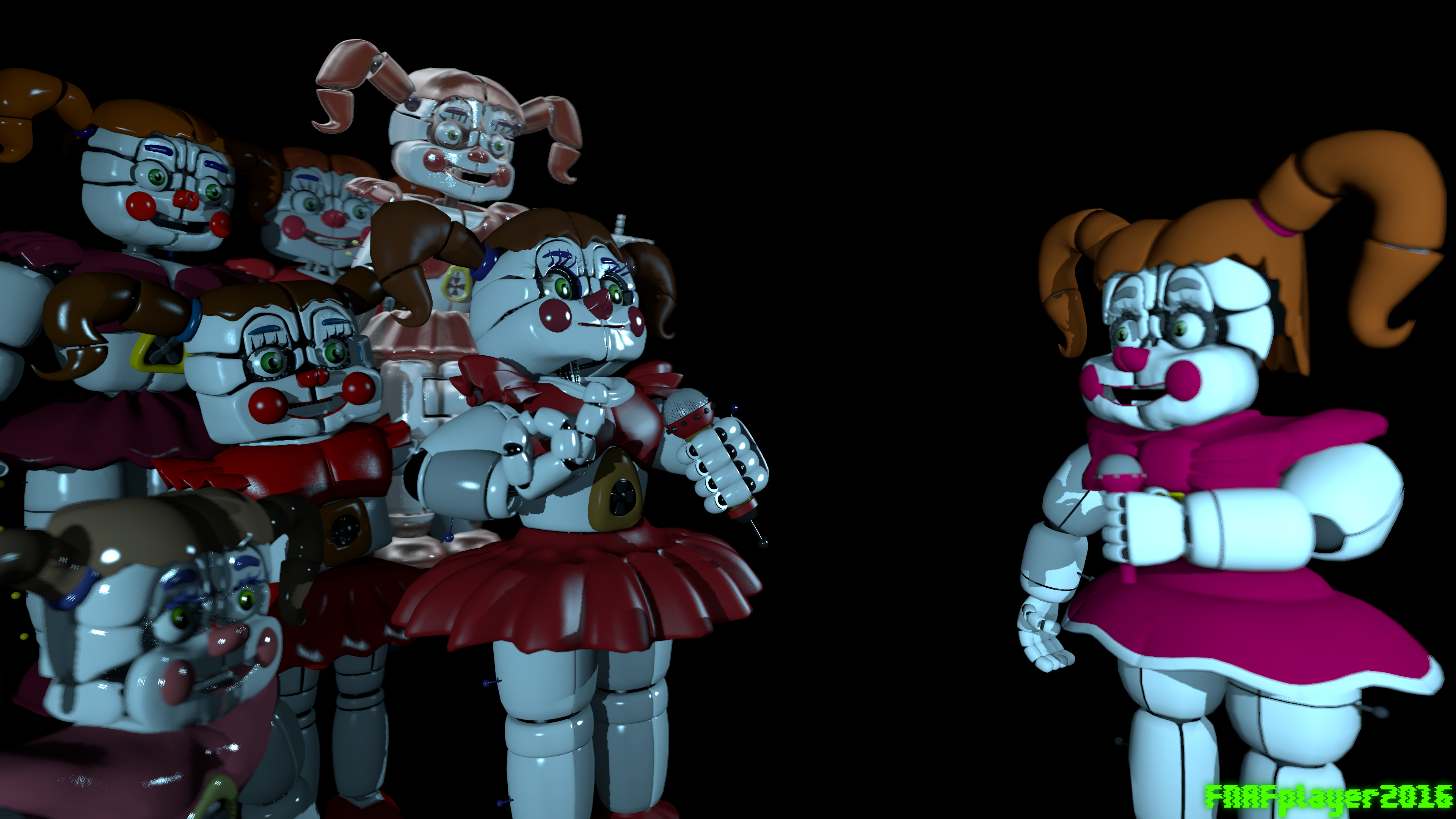 [FNAF SFM] Every Circus Baby Model In The Workshop By