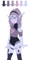 Pastel Goth Adoptable Auction -CLOSED-