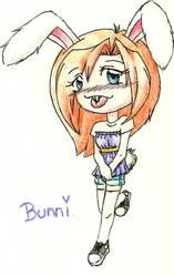 Chibi Bunny by x0xLliithiiumx0x