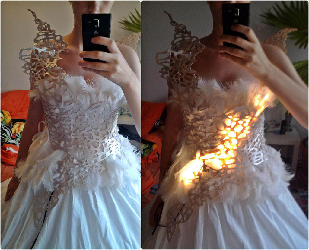 katniss everdeen cageweddingdress wip by lunalovingly