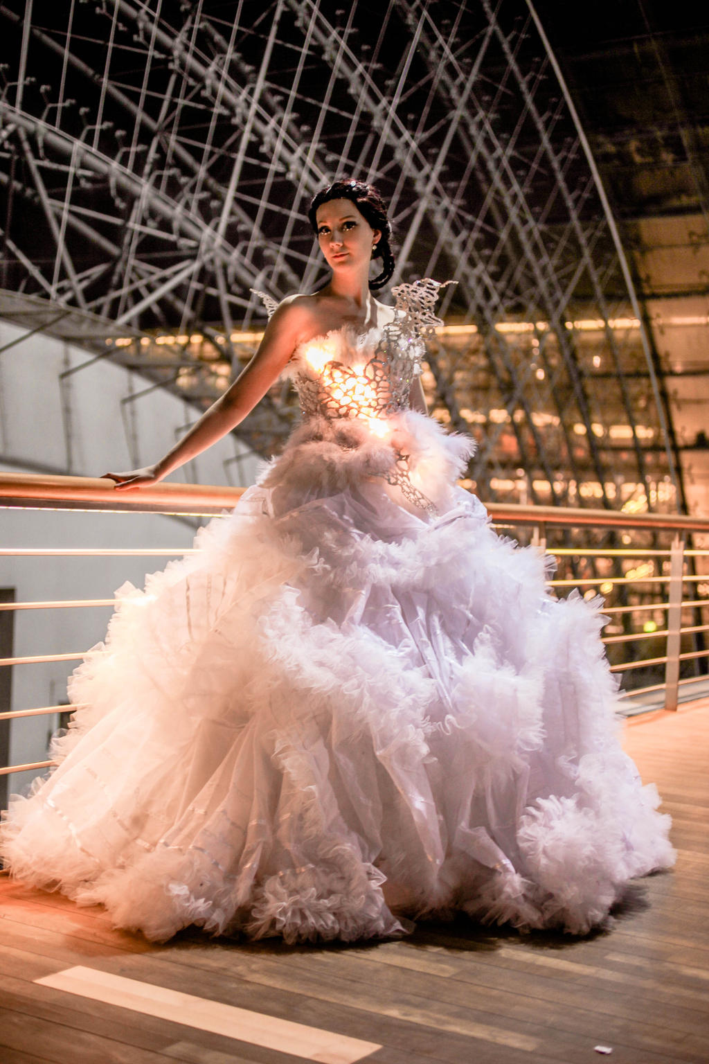 the gallery for gt catching fire wedding dress transformation