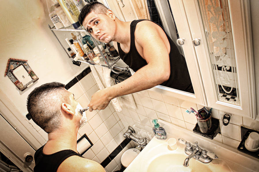 Self Portrait: How to Shave by gustoizm