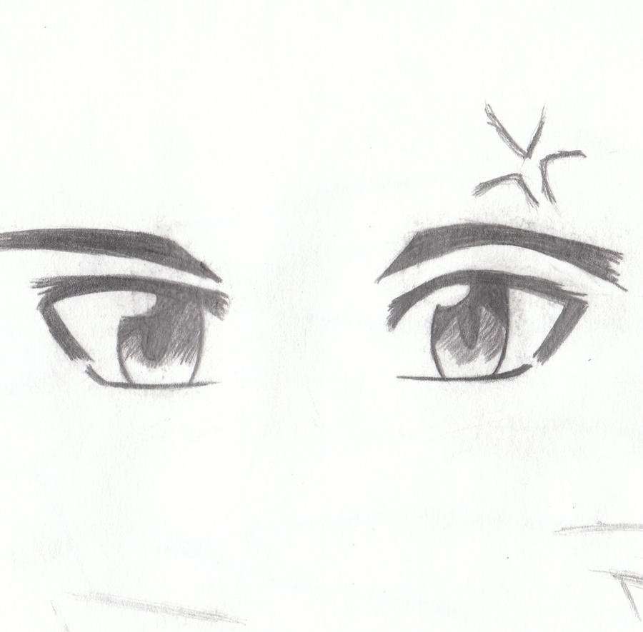 Happy Male Anime Eyes