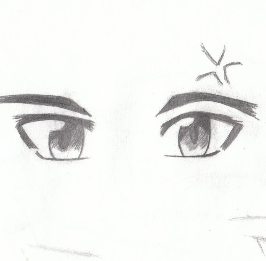 Happy Male Anime Eyes