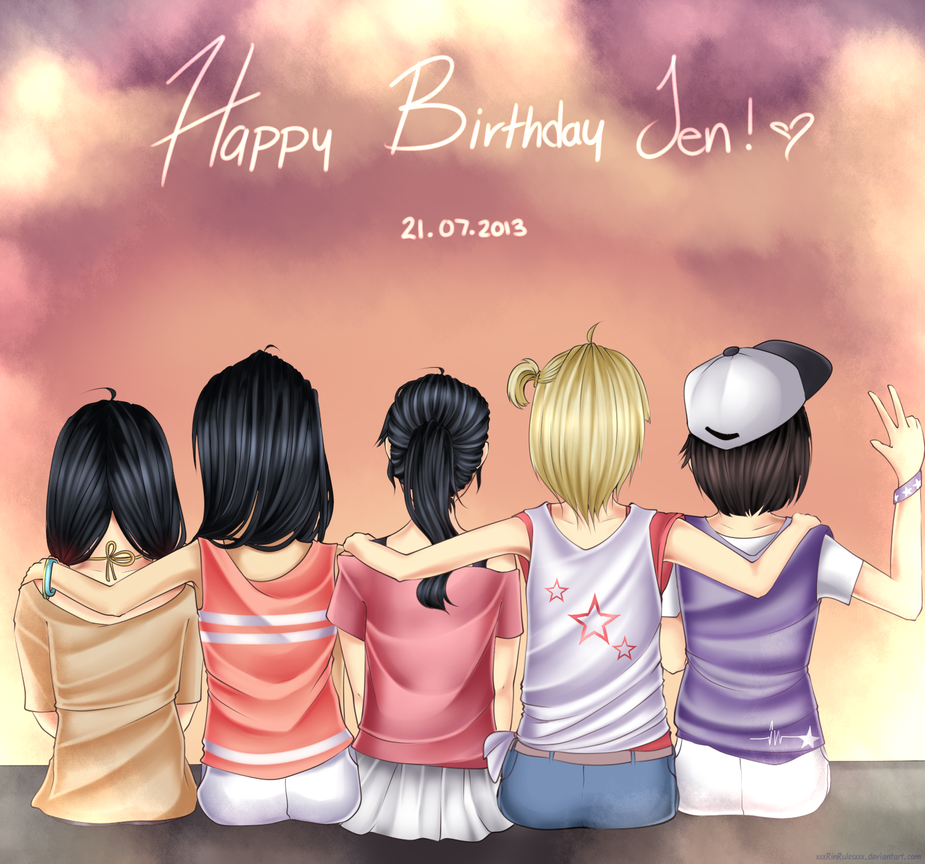 HAPPY BIRTHDAY JEN By Rinspirit-Art On DeviantArt