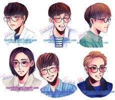 Seventeen in Glasses Pt. 1 by Rinspirit-Art