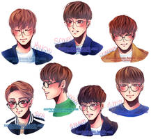 Seventeen in Glasses Pt. 2 by Rinspirit-Art