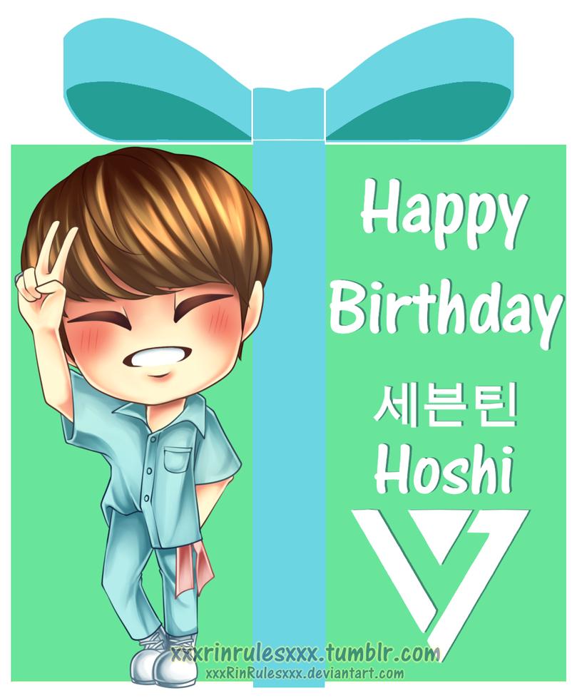 Happy Birthday Seventeen's Hoshi by xxxRinRulesxxx