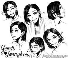 Yoon Jeonghan by Rinspirit-Art