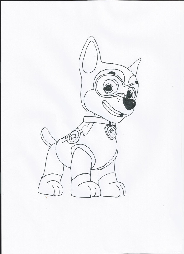 Coloring Pages Of Chase From Paw Patrol : Large paw patrol chase coloring pages printable