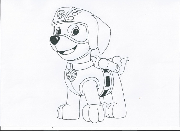 Coloring Pages Paw Patrol Zuma : Paw patrol coloring pages free nick