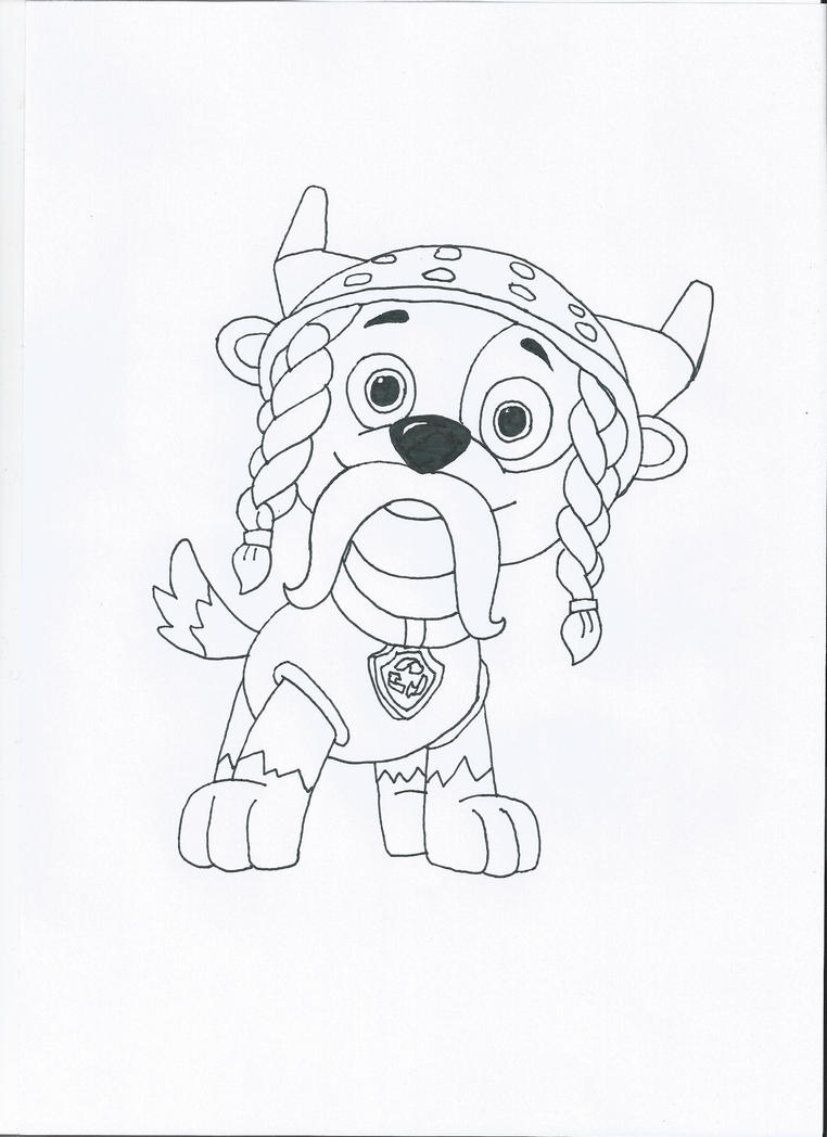 Paw Patrol Halloween Coloring Pages Sketch Coloring Page