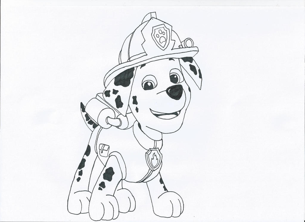 Marshall Paw Patrol - Free Colouring Pages