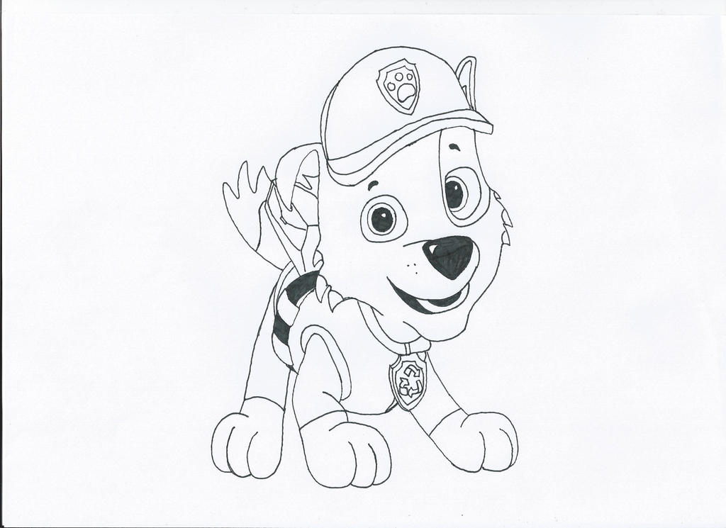 Coloring Pages Paw Patrol Rocky : Rocky paw patrol coloring pages