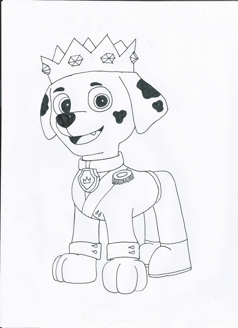 Paw Patrol Marshal Free Colouring