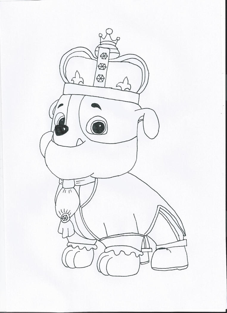 Paw patrol spring coloring pages - Paw Patrol Rubble Coloring Pages Paw Patrol Prince Rubble By Pawpatrolfan66