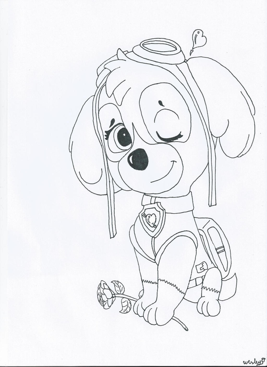 Paw Patrol Tundra Coloring Pages : Paw patrol skye coloring page images