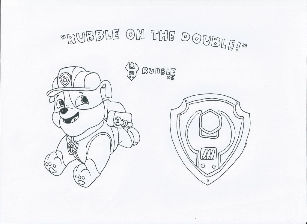 Paw patrol rubble by pawpatrolfan66 on deviantart for Rubble paw patrol coloring page