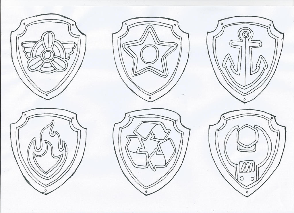 Paw Patrol Blank Coloring Pages To Print : Paw patrol badges by pawpatrolfan on deviantart