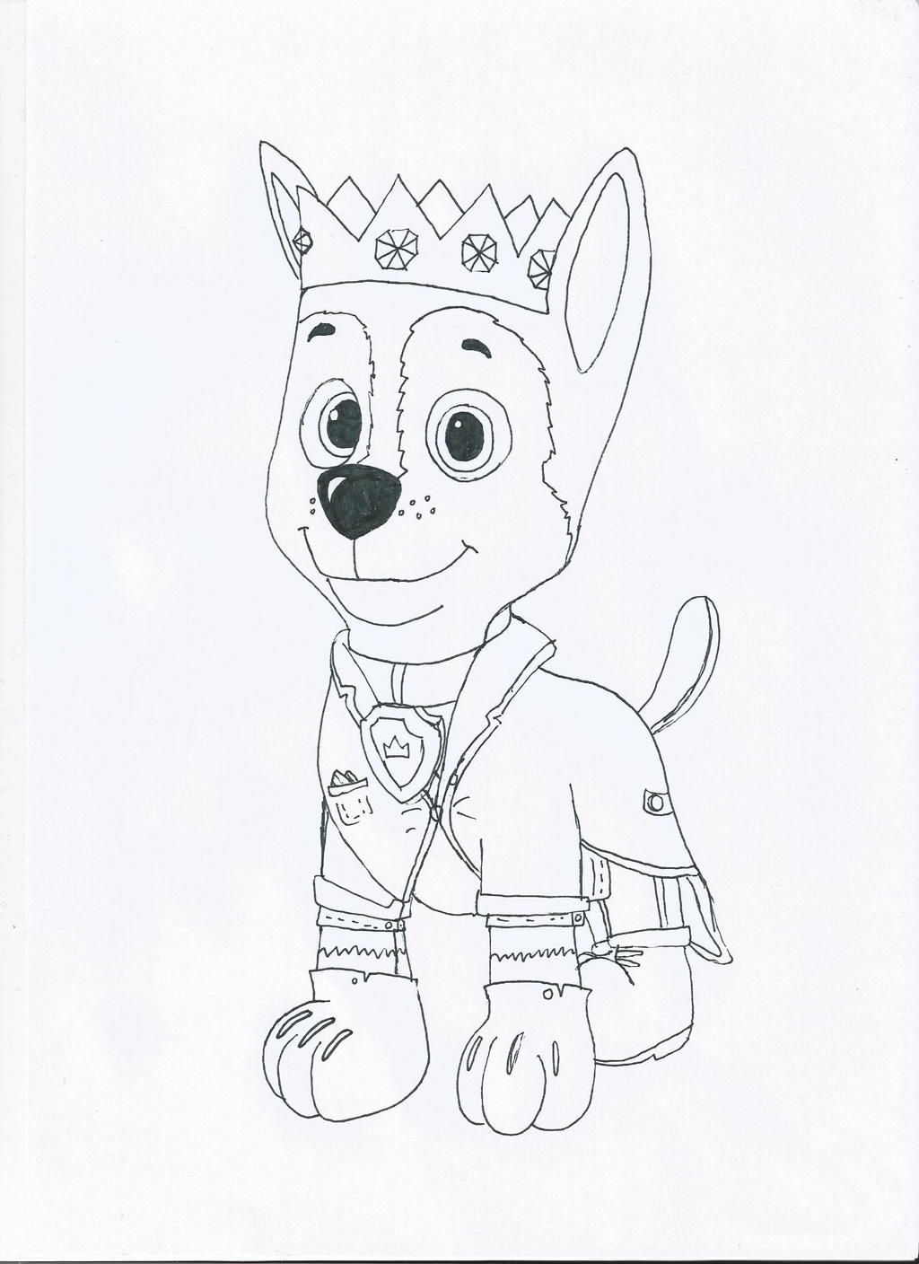 chase paw patrol coloring picture paw patrol coloring pages for