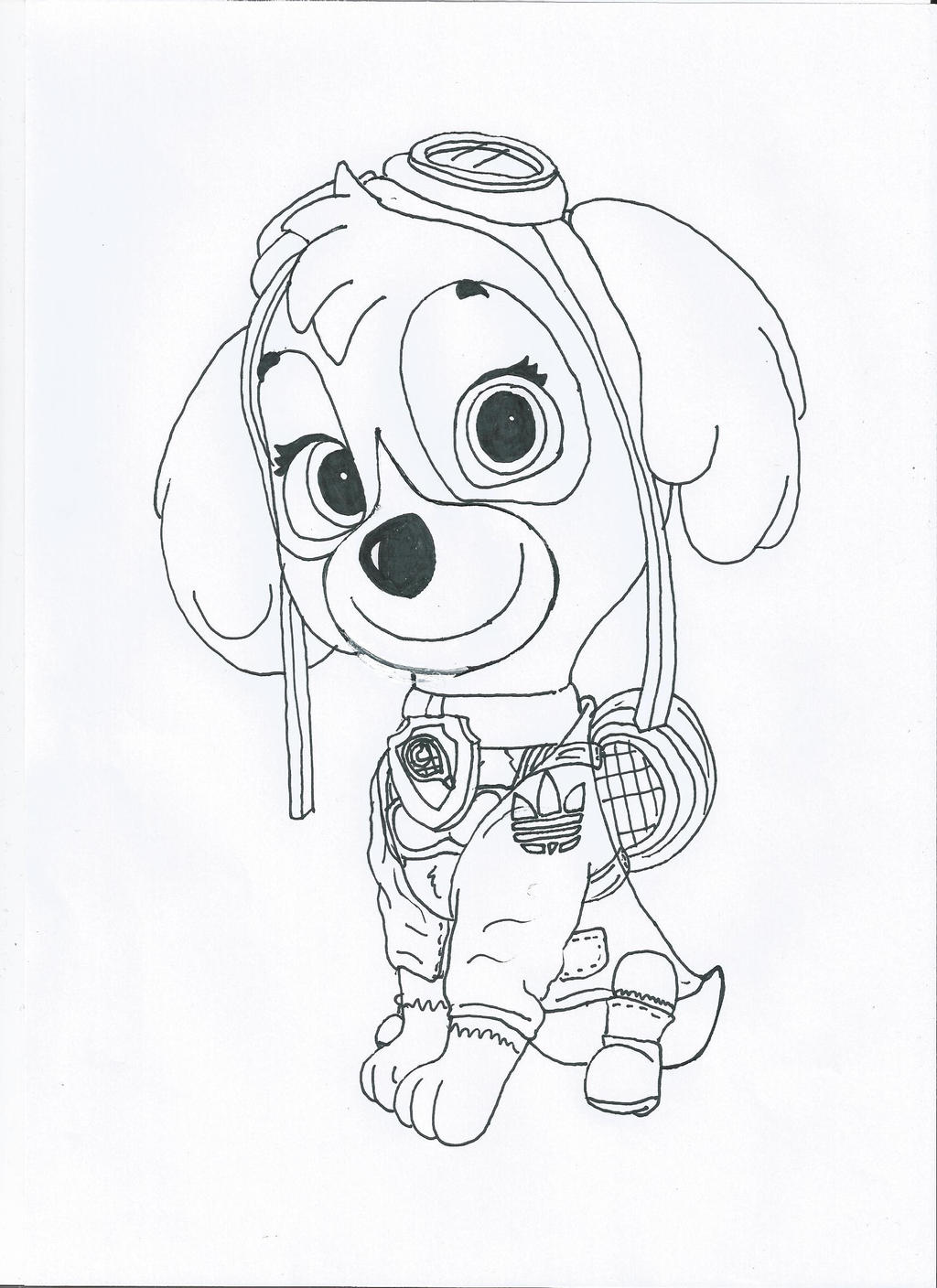 sky paw patrol coloring pages - photo#24