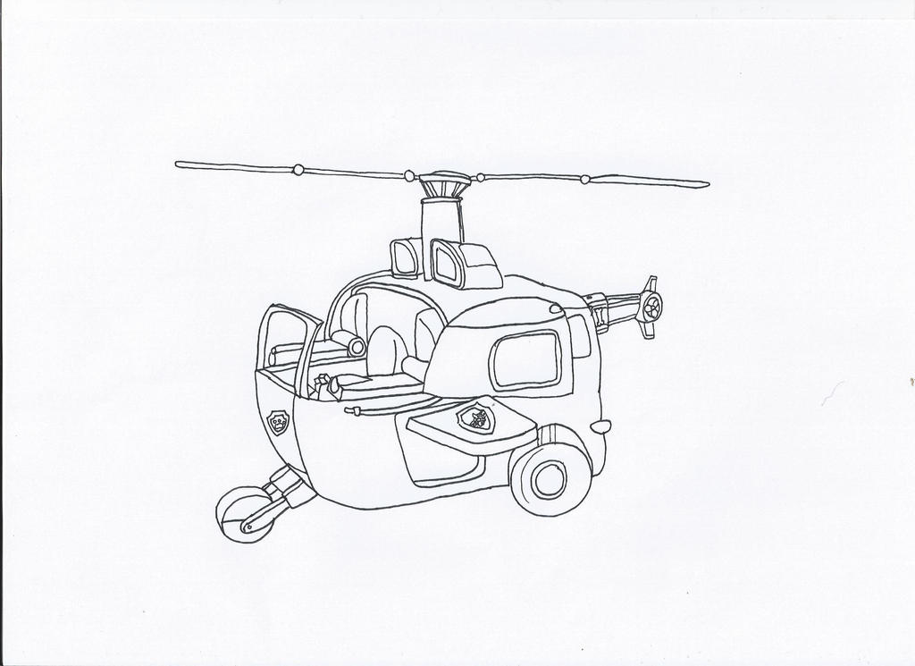 Paw Patrol Vehicles Coloring Pages : Paw patrol sky s car by pawpatrolfan on deviantart