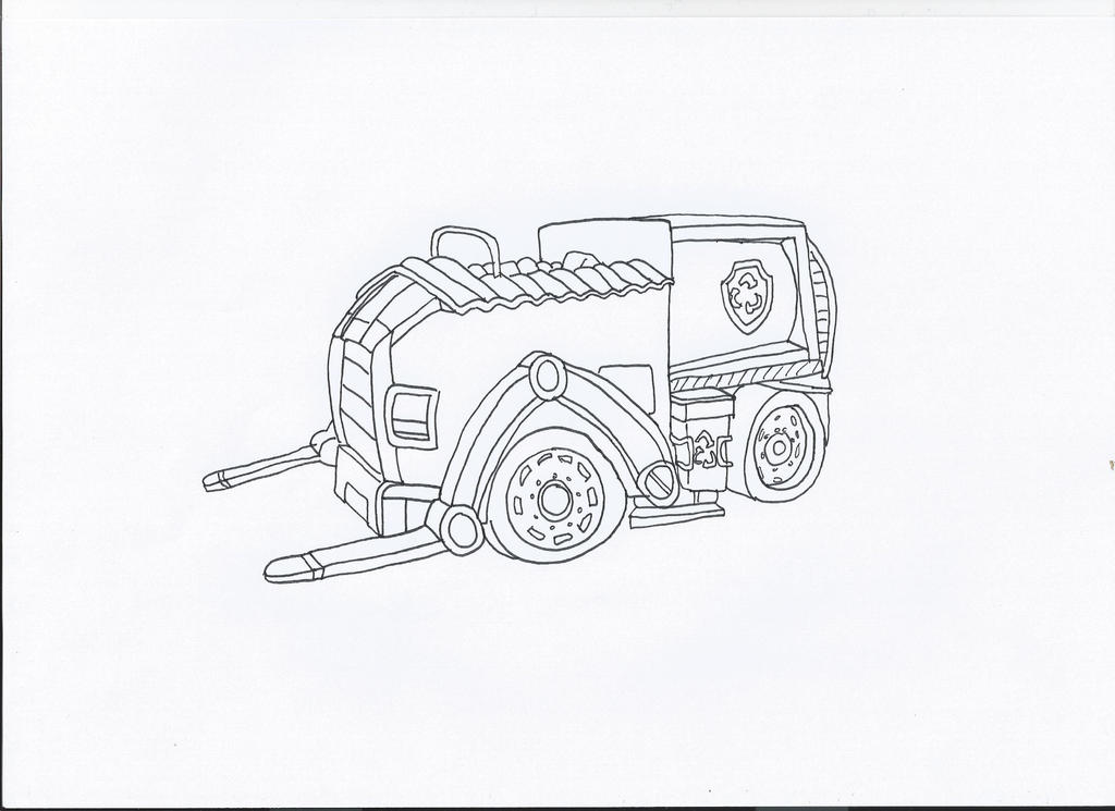 Paw Patrol Car Coloring Pages : Paw patrol rocky s car by pawpatrolfan on deviantart