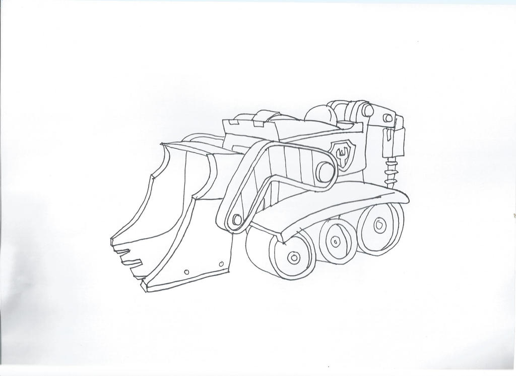 Paw patrol rubble 39 s car by pawpatrolfan66 on deviantart for Rubble paw patrol coloring page