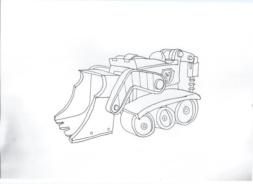paw patrol rubble 39 s car by pawpatrolfan66 on deviantart. Black Bedroom Furniture Sets. Home Design Ideas