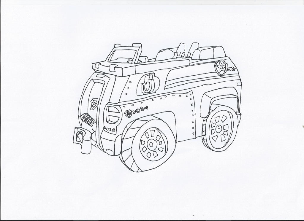 Paw Patrol Car Coloring Pages : Paw patrol chase s car by pawpatrolfan on deviantart