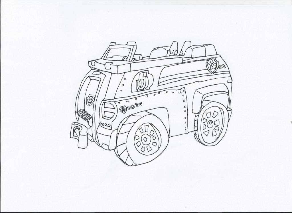 paw patrol chase 39 s car by pawpatrolfan66 on deviantart. Black Bedroom Furniture Sets. Home Design Ideas