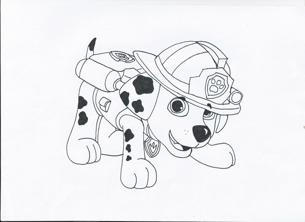 Paw patrol marshall coloring pages paw patrol