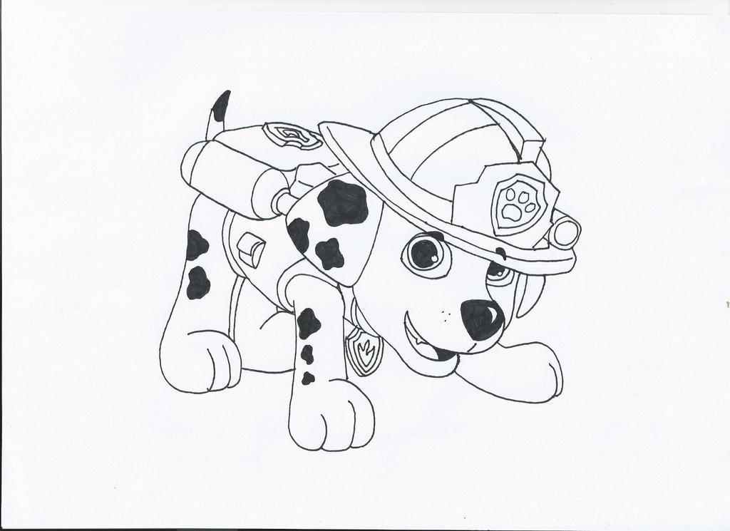 marshall paw patrol coloring page - paw patrol marshall by pawpatrolfan66 on deviantart