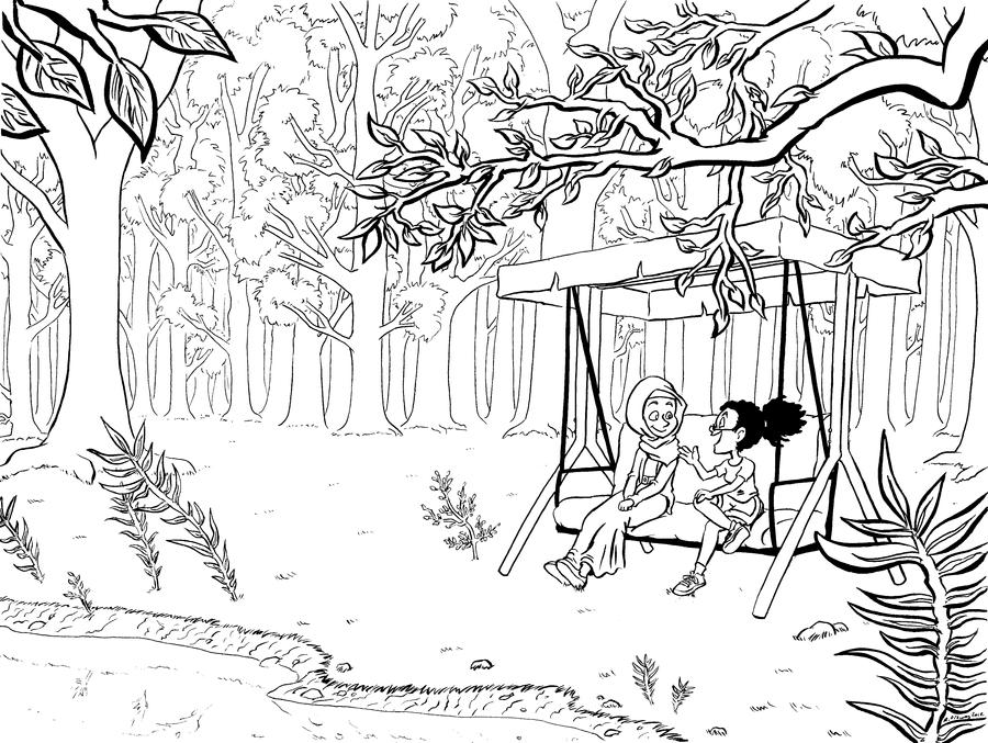 forest background coloring pages - photo#11