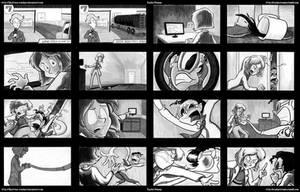 Plastic Man Storyboards by RachelOrdwayArt