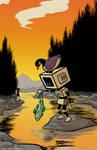 Robots Appreciating Nature 2 by RachelOrdwayArt