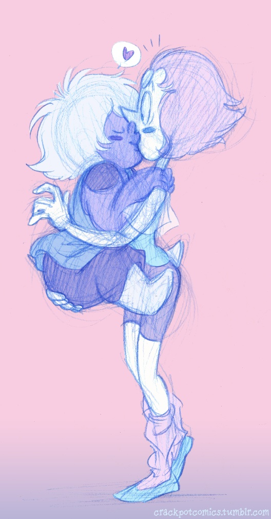 Tumblr link! Some cute Pearlmethyst to cheer me up on a tough day.