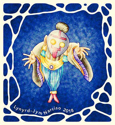 Masked Old Lady Babaylan by blue-fusion