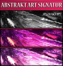 Abstrakt Art Signatur