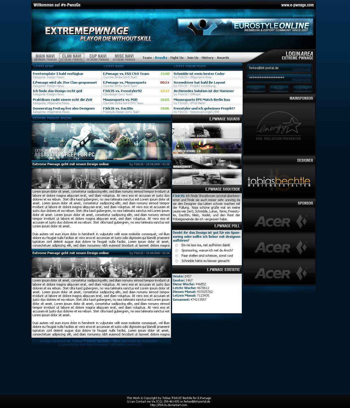 E.Pwnage Sponsor Design
