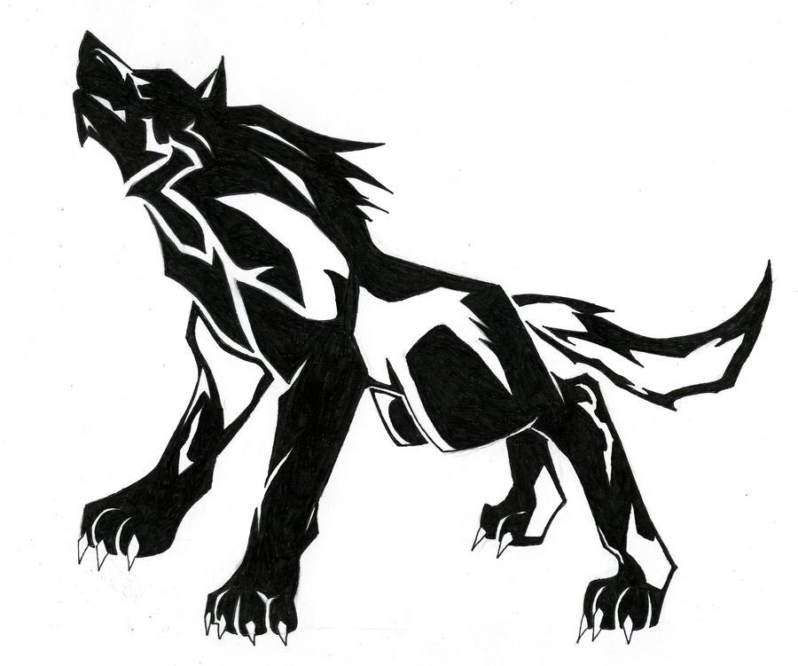 Tribal Wolf Wallpaper: Tribal Wolf Link By DarkLordRinku On DeviantArt