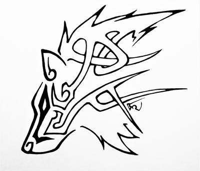 Celtic Tribal Wolf by DarkLordRinku